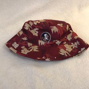 Florida State Univ-FSU Hawaiian Bucket Hat. NWOT